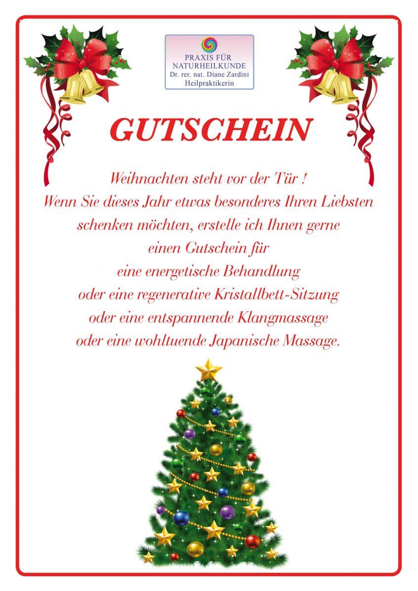 Gutscheine sind in der Naturheilpraxis von Frau Dr. Diane Zardini Heilpraktikerin in Garmisch-Partenkirchen erhältlich.