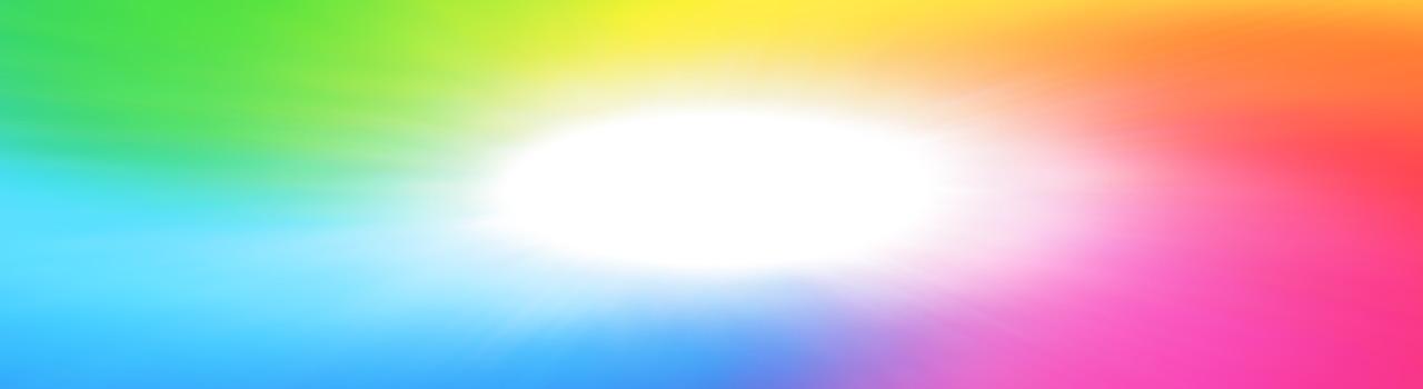 Ein elliptisches weißes Licht umgeben von den sieben spektralen Farben symbolisiert die Energieheilkunde. Die energetische Behandlung gehört zu den Leistungen, die in der Praxis der Heilpraktikerin Diane Zardini in Garmisch-Partenkirchen angeboten werden. Zweites Bild das sich oben auf der Startseite befindenden Diashow.